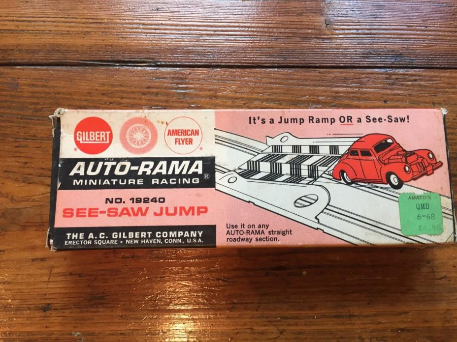 AMERICA FLYER AUTO-RAMA SEE-SAW-JUMP#19240 IN FACTORY BOX VINTAGE TOY 1961