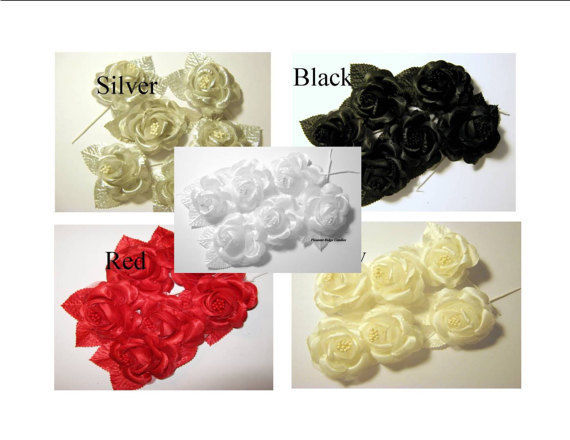 139 Lot Rose & Floral Stem Floral Supplies Rustic Wedding Decor Craft Corsage
