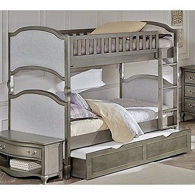 Ne Kids  Kensington Victoria Twin Over Twin Bunk With Trundle-Antique Silver NEW