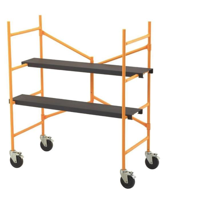 Compact 4-2/12 ft. x 3-9/12 ft. x 1-9/12 ft. Roll and Fold Scaffolding Kit