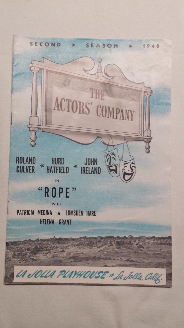 La Jolla Playhouse Playbill Second Season 1948