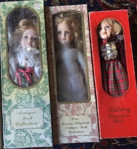 Lot Of 3 Antique Dolls