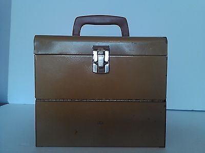 VINTAGE LOGAN DELUXE 8mm Film - Metal Chest - Storage Box