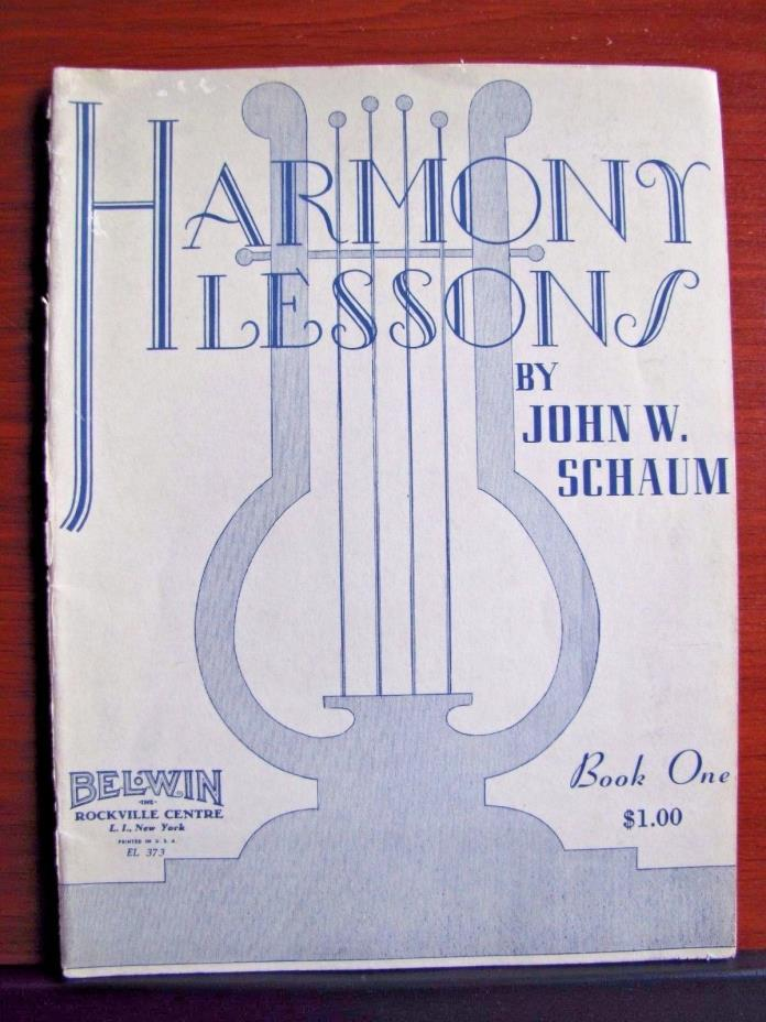 Harmony Lessons by John Schaum Book One - 1949 PB music lesson