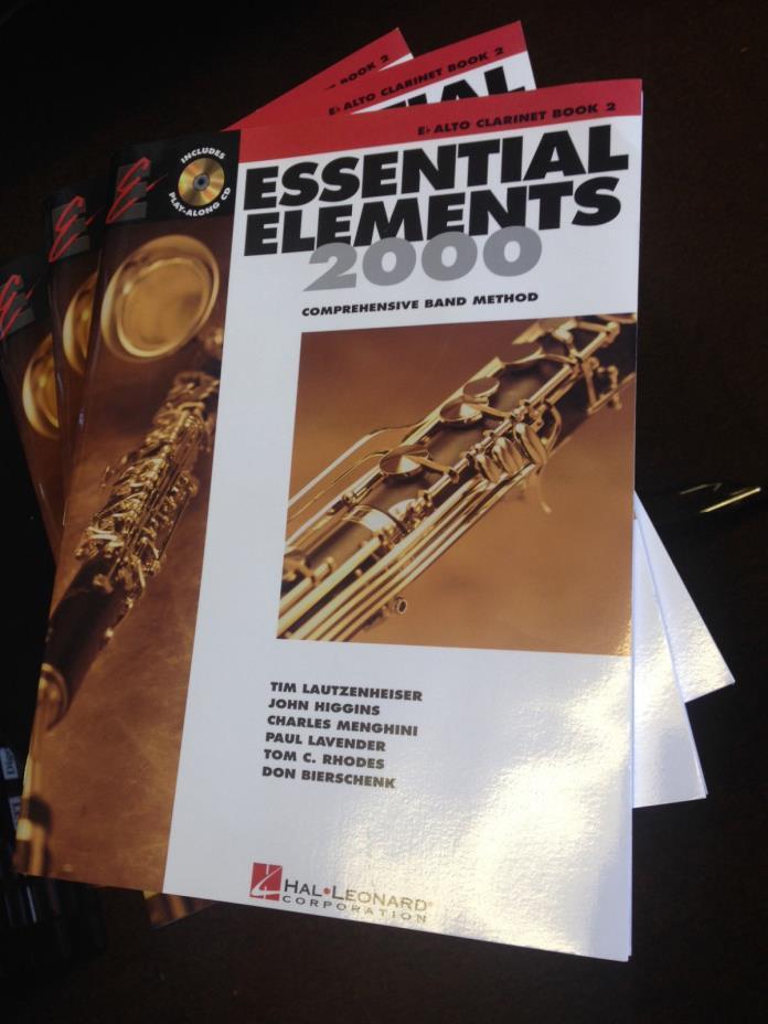 ALTO CLARINET Hal Leonard Book 2 EE2000 w/CD Instructional Essential Elements