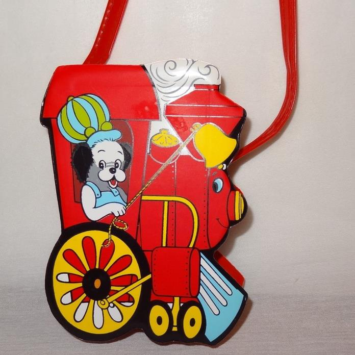 Vintage Train Engine Puppy Red Purse 6
