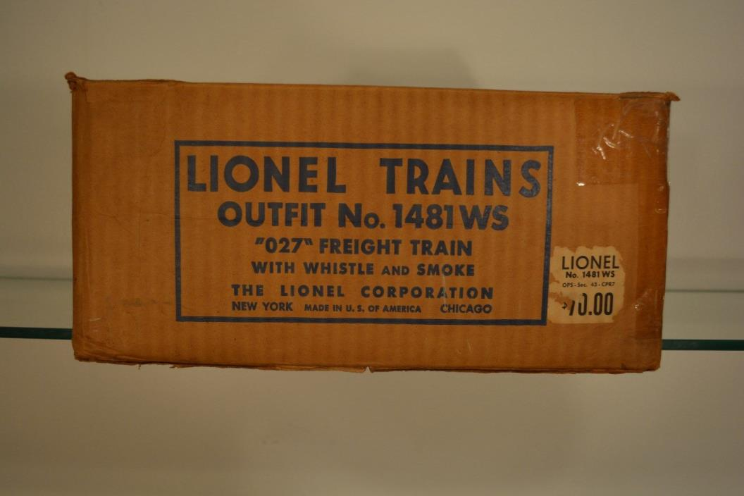 Vintage Original Lionel Empty Set Box Train Outfit 1481-WS 1951 Freight Set