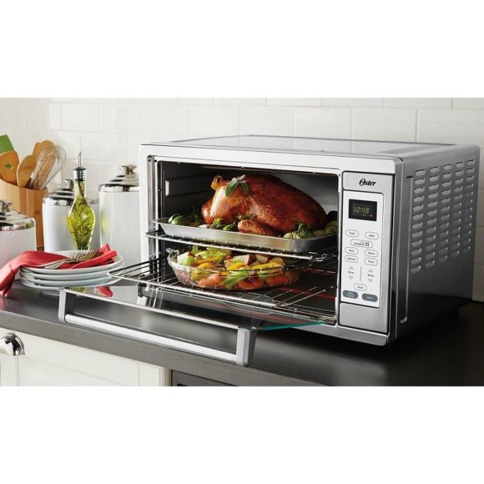 Extra Large Convection Oven Toaster Countertop Stainless Steel Oster Digital