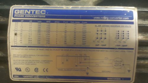 Rotary Phase Converter AD20 - 20 HP  Heavy Duty CNC Made in USA