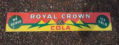 Vintage Royal Crown RC Cola Tin Sign