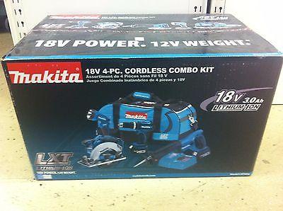 Makita LXT406 18V Lithium-Ion Cordless 4-Pc. Combo Kit