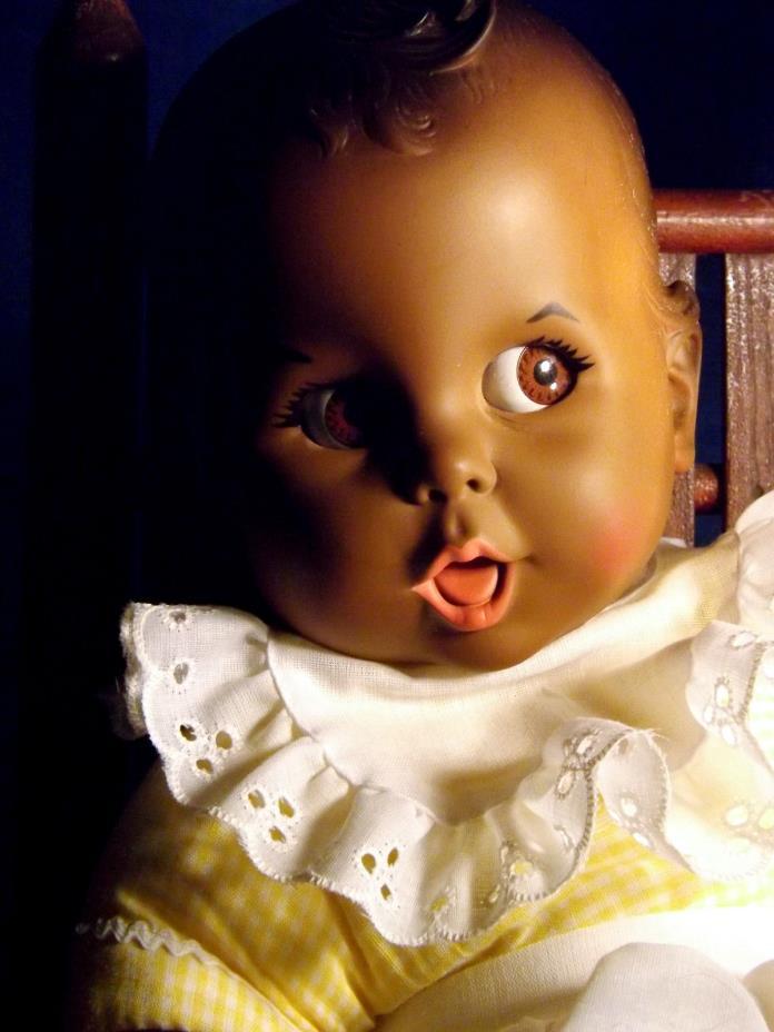 Vinyl African American BLACK GERBER CO BABY Doll Flirty Eyes All Orig w Tag 1979