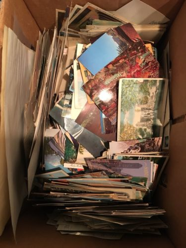 Antique and Vintage Lot Box of Post Cards. Tons in this box, possible thousand