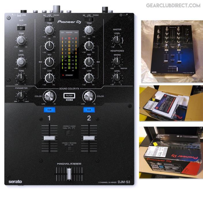 Pioneer DJ DJM-S3 2-channel SERATO DJ Battle Mixer W/ Magvel Crossfader