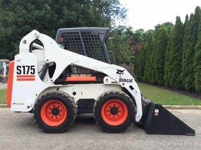 2013 Bobcat S175 Rubber Tire Skid Steer Loader Cab Diesel Wheel Bob Cat Tractor