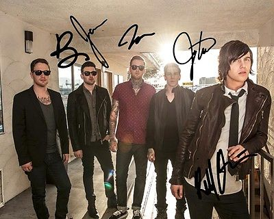 Sleeping With Sirens Group Signed 8X10 Photo Rp Kellin Quinn Feel Hardcore