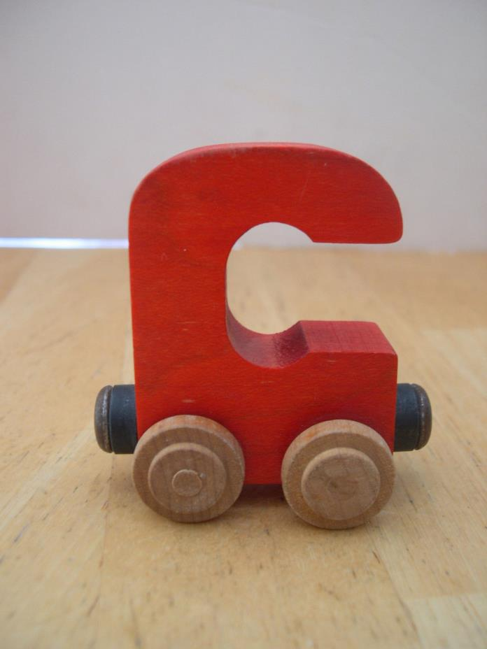 Red Letter C Wooden Train Car