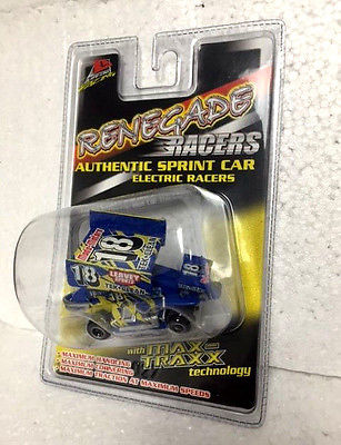 Life like #9849 Sprint Car #18 Blue HO Scale Renegade Racers slot car NEW