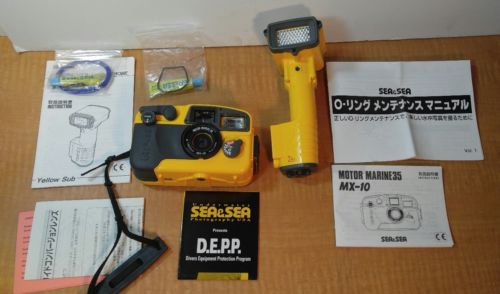 SEA & SEA MX10  CAMERA, AND YS-40A WATER FLASH STROBE