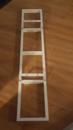 IKEA Lerberg Metal Media Wall Mount CD DVD VHS Shelf Rack white