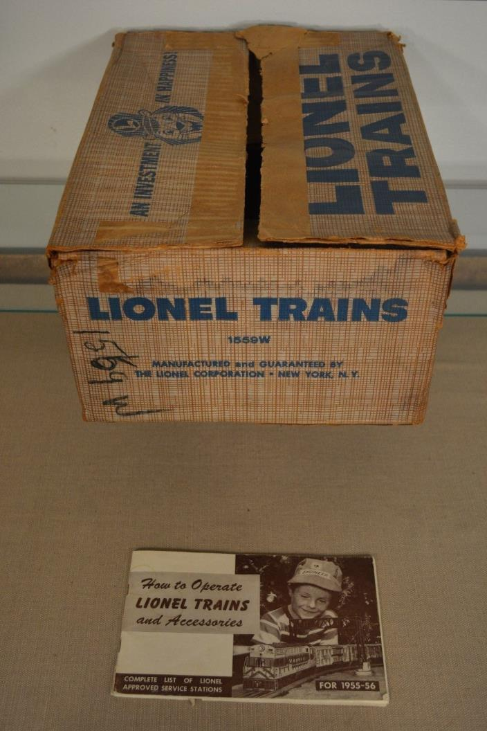 Vintage Original Empty Lionel Set Box Train Set 1559W 1956 with Manual FRT set