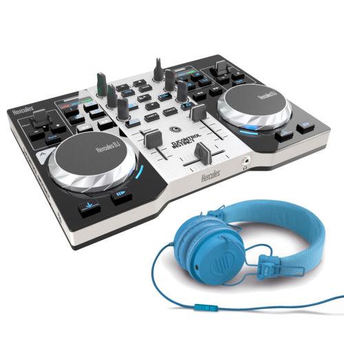 HERCULES Control Instinct S DJ Controller + Pair of Reloop RHP-6 Blue Headphones