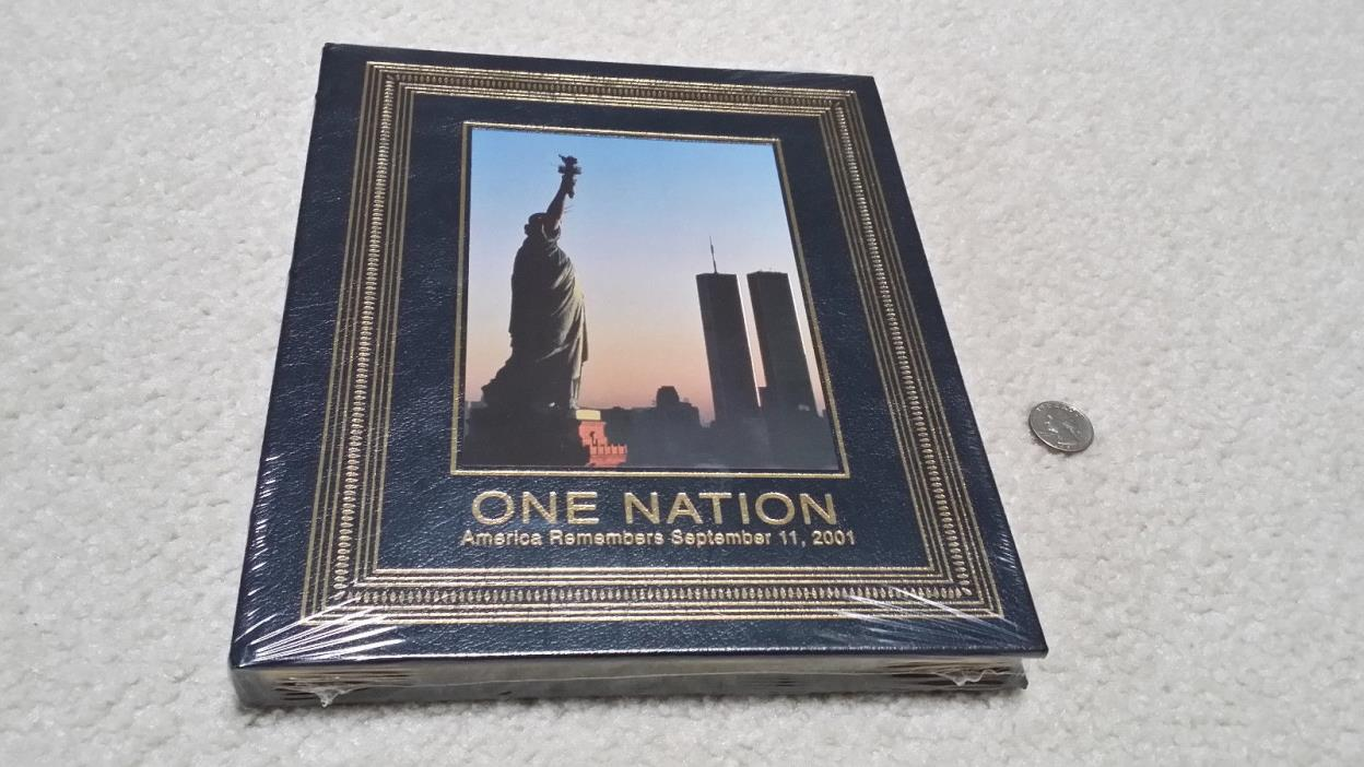 ONE NATION America Remembers 09-11-01 Easton Press/LIFE Leather Bound Book~New