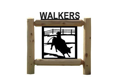 PERSONALIZED BULL RIDER SIGN - RODEO - WESTERN DECOR         # 27