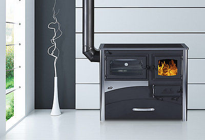 Wood/Coal Burning Cook Stove Concept 2 Air / Left flue