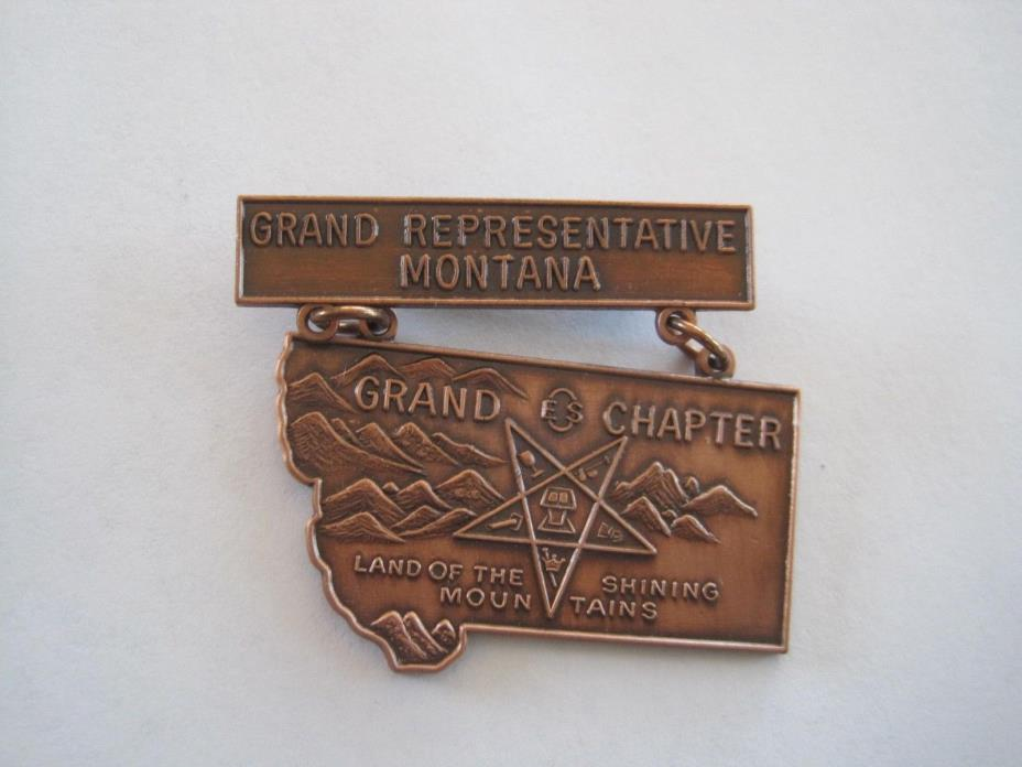 Montana Masonic Pin Grand Chapter Grand Representative