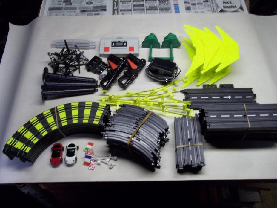 Artin slot car track parts Untested