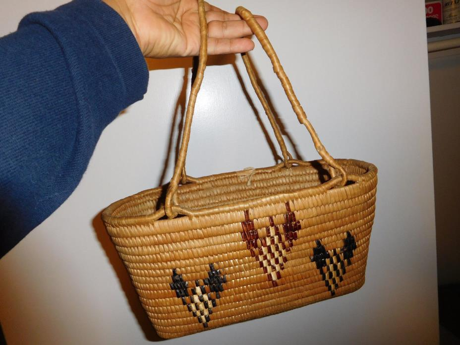 Antique NW Coast Basket American Indian Native Piece