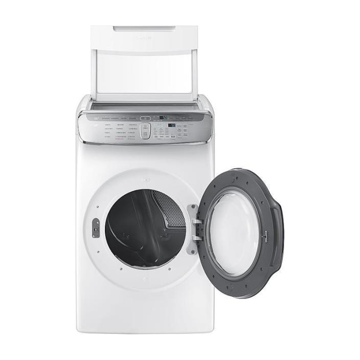Samsung FlexDry 7.5-cu ft  Dryer  DVE60M9900W W/ WIFI CONNECTIVITY &  MULTISTEAM