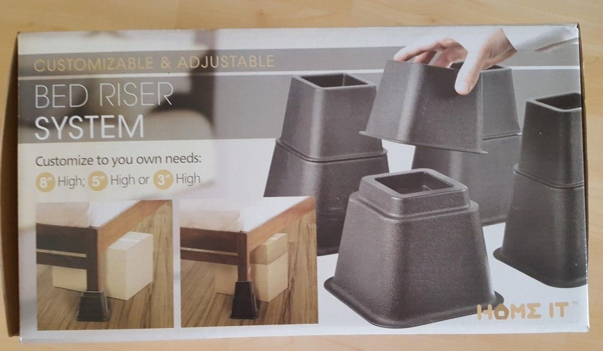 Home It Adjustable Bed Riser System, Set of 8 Brand Name is HOME IT