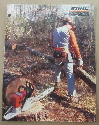 Vintage 1986 OEM Stihl Forestry Equipment & Safety Accessories Sales Literature