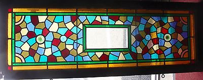Crazy quilt stained glass window