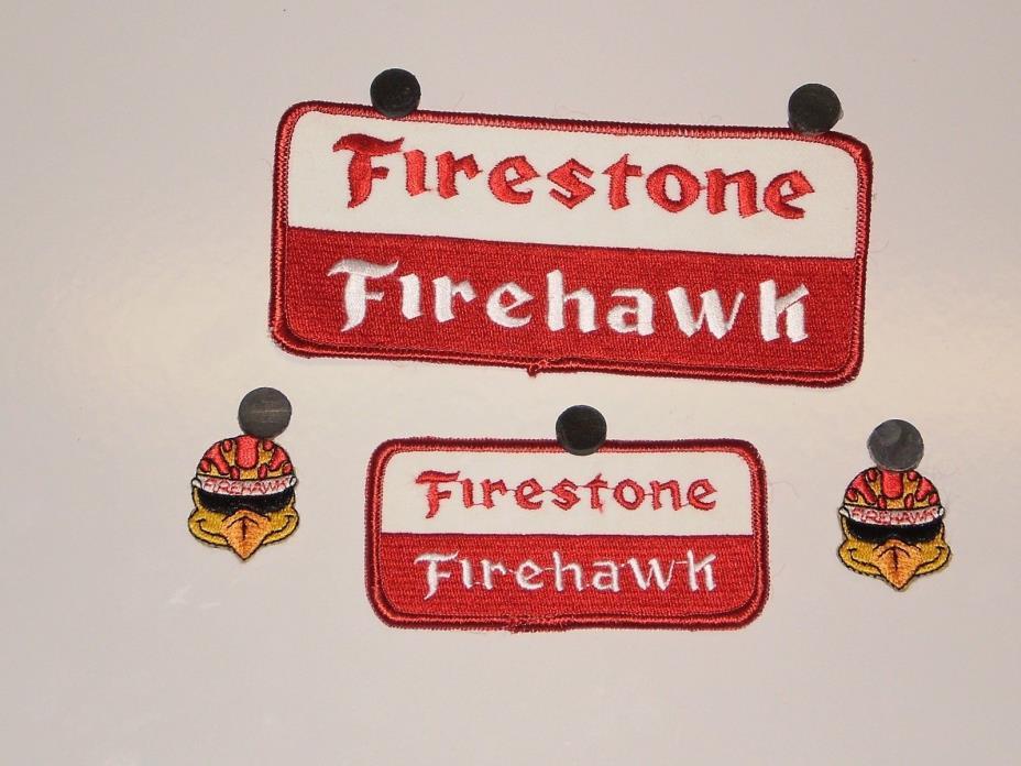4 Firestone Tire Firehawk Patches NOS