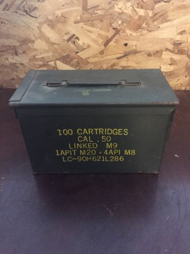 Vintage 50 Cal Metal Ammo Box 11