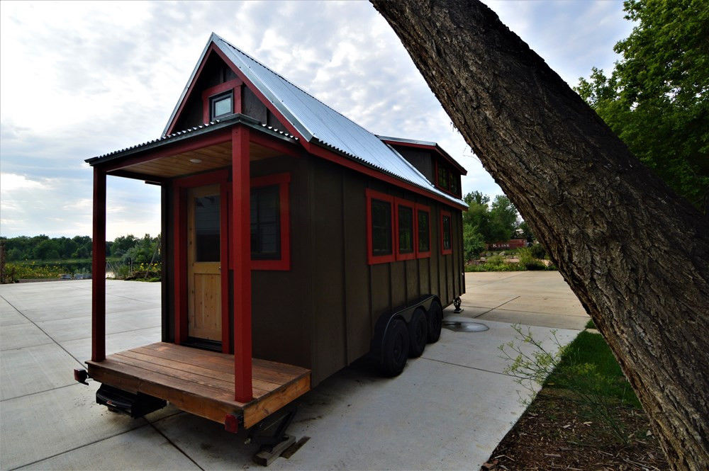 Charming Custom Tiny House with Colorado Beetle Kill Interior