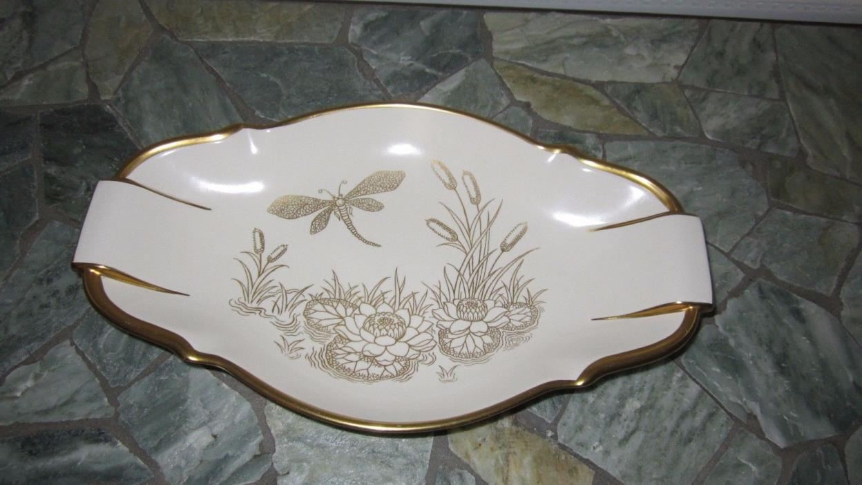 Carlton Ware Art Deco 2 Handled Dish Dragon Fly England