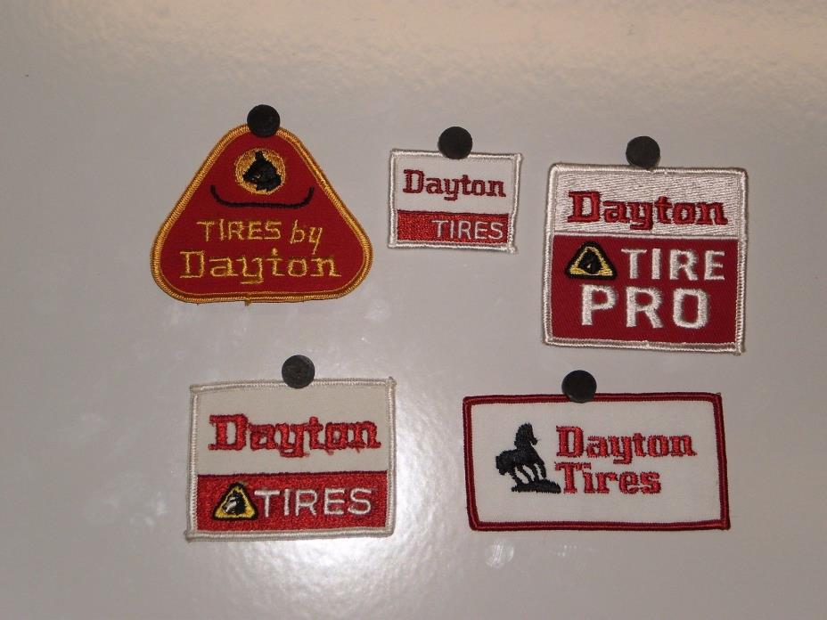 5 Dayton Tire Patches NOS