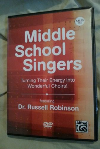 Alfred Middle School Singers Turning Their Energy Into Wonderful Choirs DVD Rare