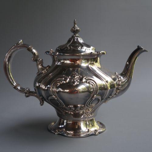 Vintage Gorham Chantilly YC 1302 Silver Plate EP Teapot Tea Pot 9