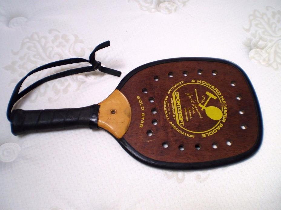 Vintage Sportcraft Paddleball racquet Howard Hammer Paddle Sport