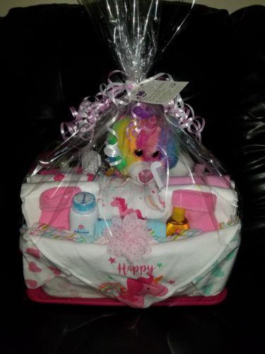 Baby Shower UNICORN Gift Basket