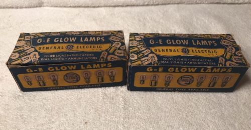 GE GLOW LAMPS  NE-17 BULB 2  PACK OF 10, 1/4 W, T4-1/2 CLEAR 105-125V
