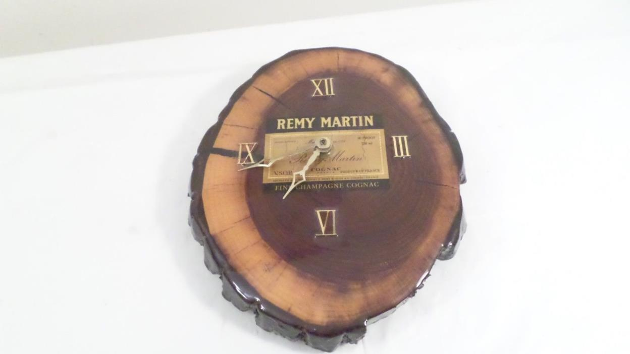 Remy Martin Champagne Cognac Wood Advertising Wall Clock
