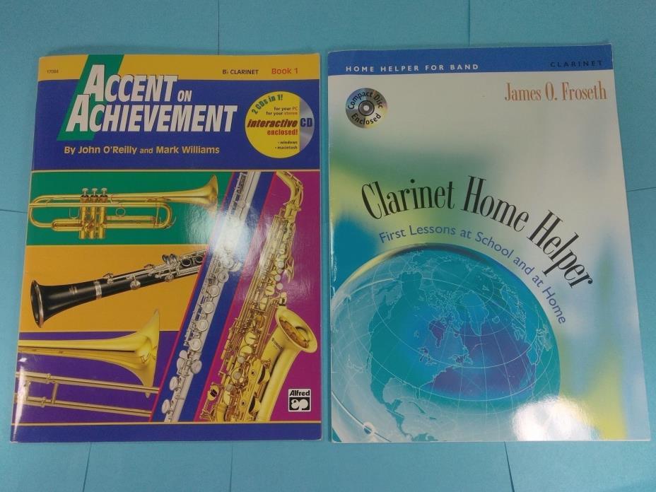Clarinet, Accent on Achievement-Book 1,Clarinet Home helper, CD's, Sheet Music