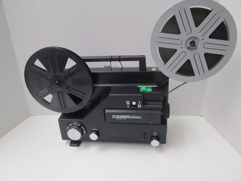 Chinon Whisper Dual 8mm (Super 8/Reg 8mm) Projector - Variable Speed - New Belt!