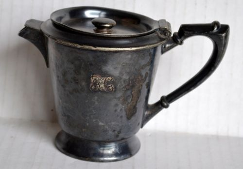 Vintage KAFETTE Pick-Barth TEAPOT / Coffee Pot Silver Soldered Restaurant Ware
